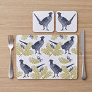 Pheasant And Oak Placemat Set Of Four
