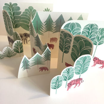 Greeting Card Pop Up Forest