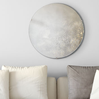 Gold Speckled Antiqued Mirror