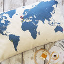 Diy Embroidery Kit Map Of The World Cushion