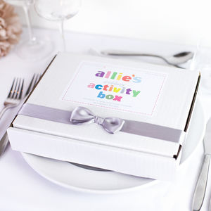 Child's Personalised Wedding Activity Box