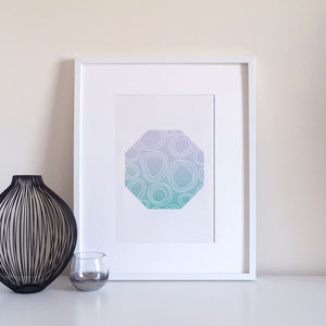 Modern Patterned Geometric Cell Pattern Art Print - modern & abstract