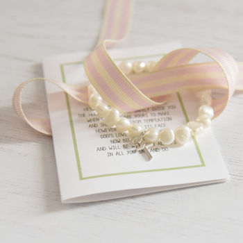 Personalised Girl's Confirmation Bracelet And Poem