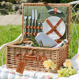 Personalised Traditional Two Person Picnic Hamper Gift