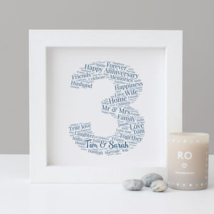 Personalised 3rd Anniversary Print - personalised sale