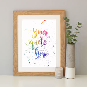 Personalised Gradient Quote Print