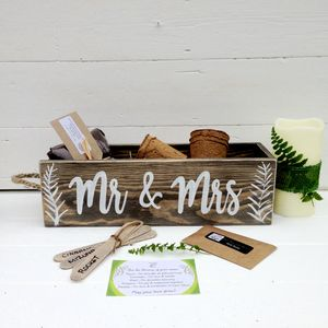 Personalised Wedding Or Engagement Herb Garden