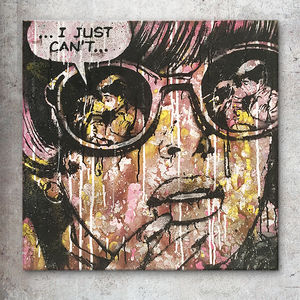 'I Just Can't' Original Pop Art Painting - canvas prints & art