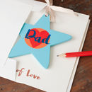 this personalised card for a Dad comes with a thick white matt paper envelope