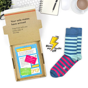 Mens Monthly Sock Subscription - gifts for teenagers
