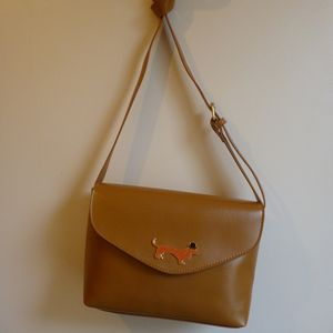 Sausage Dog Tan Handbag