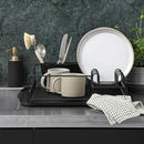 Black Dish Drainer With Drip Tray Pre Order Dec