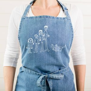 Personalised Apron With Child's Drawing