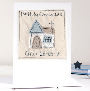 Personalised Boy's First Holy Communion Card