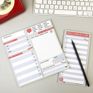 Get Stuff Done! Daily Planner Pad Set