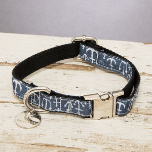 The Salcombe Nautical Dog Collar - dogs