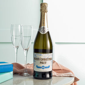 Personalised Prosecco Bottle - christmas food & drink