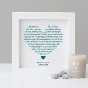Personalised Wedding Reading Print