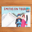 Personalised Family Holiday Postcard Illustration