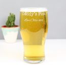 Personalised Engraved 'Daddy's Pint' Pint Glass
