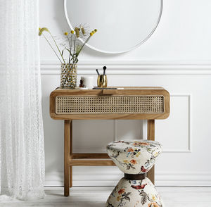 Teak Open Mesh Console - living room