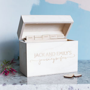Personalised Couples Anniversary Box - keepsake boxes