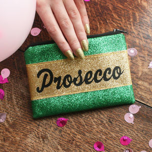Prosecco Glitter Coin Purse