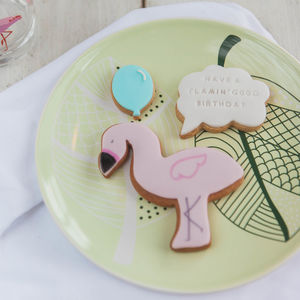 Flamingo Birthday Biscuits