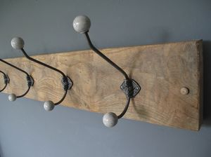 Reclaimed Antique Oak Coat Rack