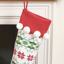 Personalised Knitted Pom Pom Nordic Christmas Stocking