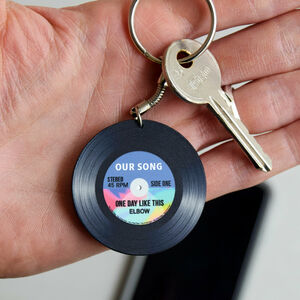 'Our Song' Personalised Vinyl Record Keyring