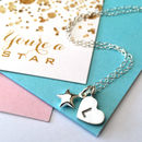 Personalised Heart And Star Necklace