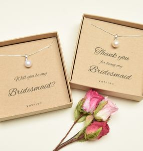 Personalised Bridesmaid Freshwater Pearl Necklace - wedding thank you gifts