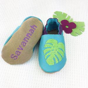 Personalised Tropical Baby Shoes