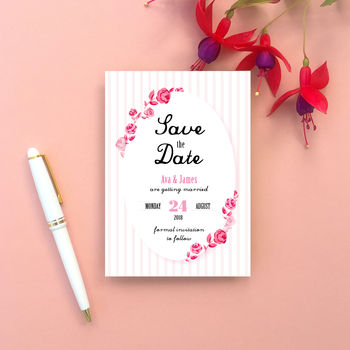 Rose Frame Wedding Save The Date Cards