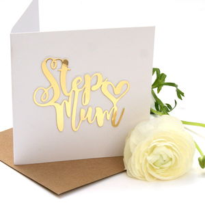 Birthday Step Mum Card - mother's day cards & wrap