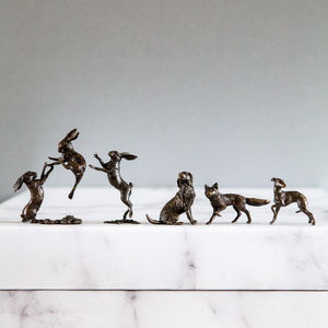 Miniature Bronzes 8th Wedding Anniversary - sculptures