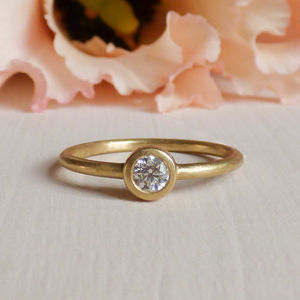 Isolde 18ct Fairtrade Gold And Ethical Diamond Ring - gold