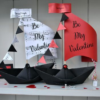 Personalised Valentine's Sail Boat Card