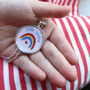 """Keep Smiling"" Rainbow Necklace Letterbox Gift"