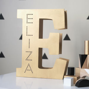 Personalised Letter Marquee Light - children's lighting