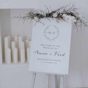 Anna Welcome Sign - table plans