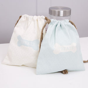 Set Of Two Furry Friend Treat Bag - dogs