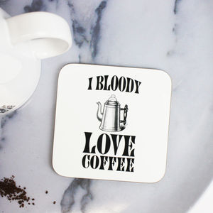 I Love Coffee Coaster - placemats & coasters