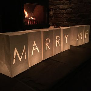 Marry Me Candle Bag Lanterns
