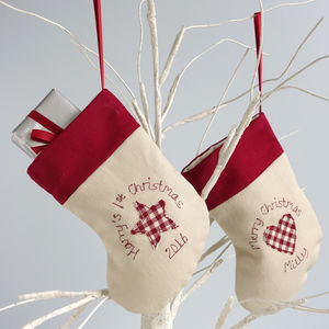 Personalised Christmas Stocking Decoration - stockings & sacks