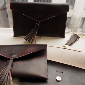 'Hidden Message' Leather Tassel Clutch - whats new