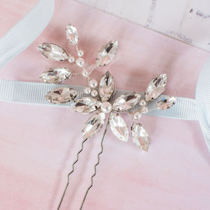 Diamante Flower Bridal Pin - tiaras & hair combs