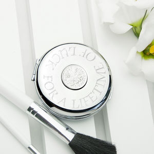 Personalised Lucky Sixpence Compact Mirror