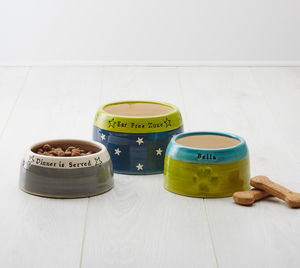 Handmade Personalised Spaniel Bowl - food, feeding & treats